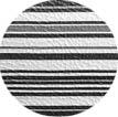 Banquetas Kalossi - Courvin listradol branco preto